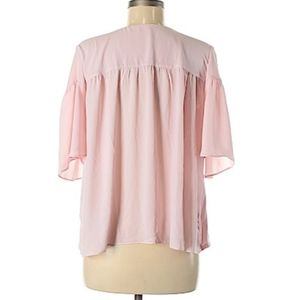 LOFT Outlet - Pink top with ruched detail and bow